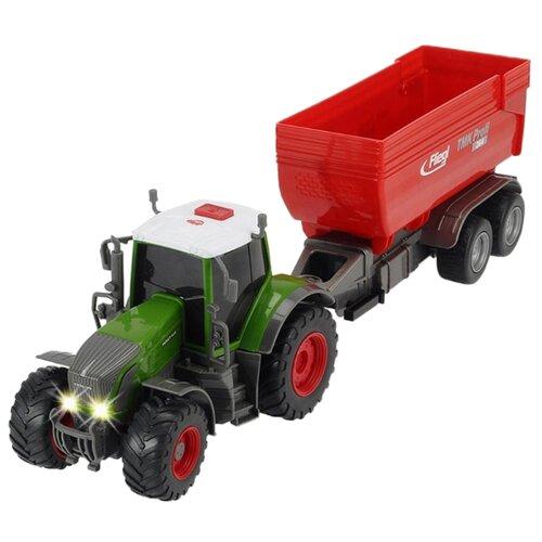 Трактор Dickie Toys Fendt 939 Vario с прицепом (3737002) зеленый/красный машина пластиковая dickie 3737000 трактор fendt с прицепом 41см свет звук