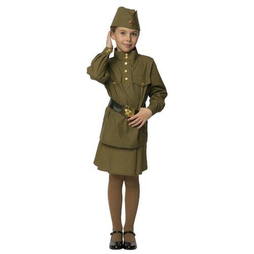Купить Костюм Вестифика Гимнастерка (108 003), зеленый, размер 80-86, Карнавальные костюмы