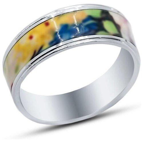 цена на Silver WINGS Кольцо с эмалью из серебра 01fyr11717/c1-113, размер 17