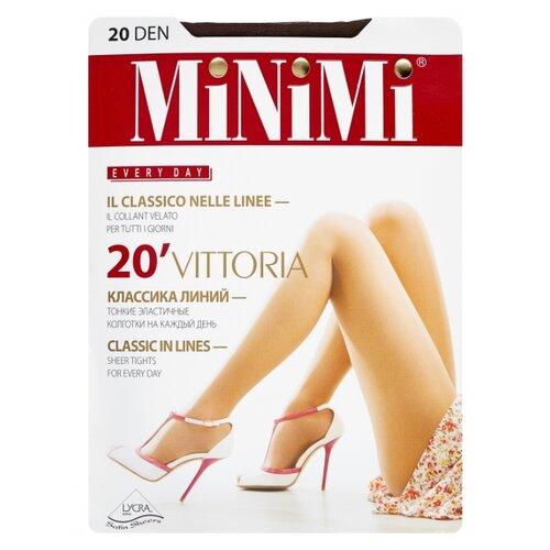 Колготки MiNiMi Vittoria 20 den, размер 1/2-S, cappuccino (коричневый) колготки minimi vittoria 20 den размер 5 xl cappuccino коричневый
