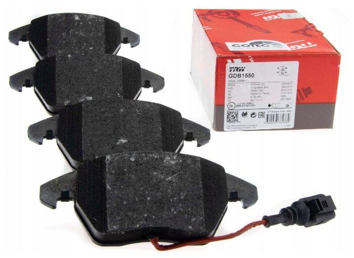 Дисковые тормозные колодки передние TRW GDB1550 для Audi, SEAT, Skoda, Volkswagen (4 шт.)