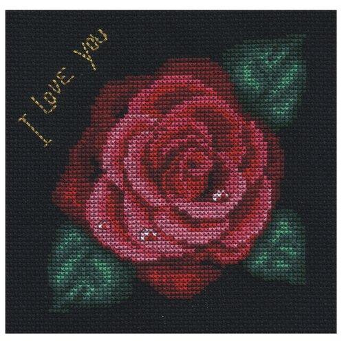 PANNA Набор для вышивания Роза 12,5 х 12,5 см (Ц-0279 / C-0279) panna набор для вышивания panna балерина роза