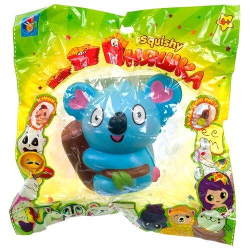 Игрушка-мялка 1 TOY Панда Т15851 голубой