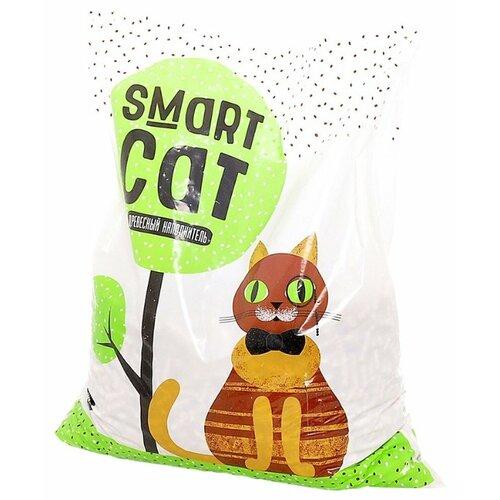 Впитывающий наполнитель Smart Cat Древесный 5 кг впитывающий наполнитель pro cat premium mix 2 кг