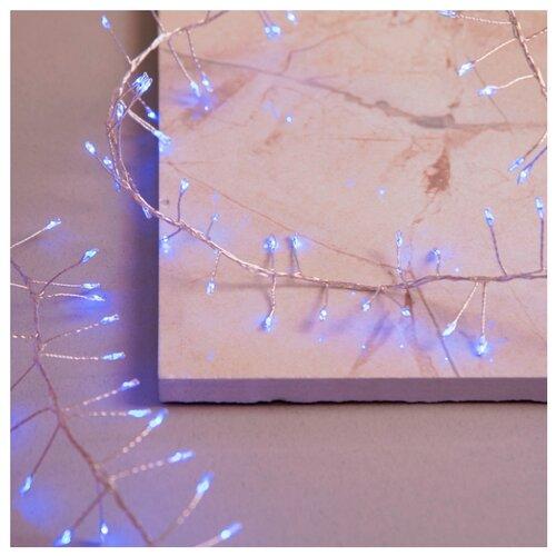 Гирлянда Luazon Lighting Мишура Роса, 200 LED, 200 см, 200 ламп, синий/серебристый провод magic time мишура золотые листья 6 200 см