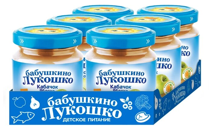 Купить Пюре Бабушкино Лукошко кабачок-яблоко (с 5 месяцев) 100 г, 6 шт. по низкой цене с доставкой из Яндекс.Маркета (бывший Беру)