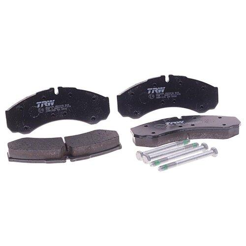 Фото - Дисковые тормозные колодки передние TRW GDB1345 для Iveco Daily, Nissan Cabstar (4 шт.) дисковые тормозные колодки передние trw gdb3286 для toyota highlander lexus rx 4 шт