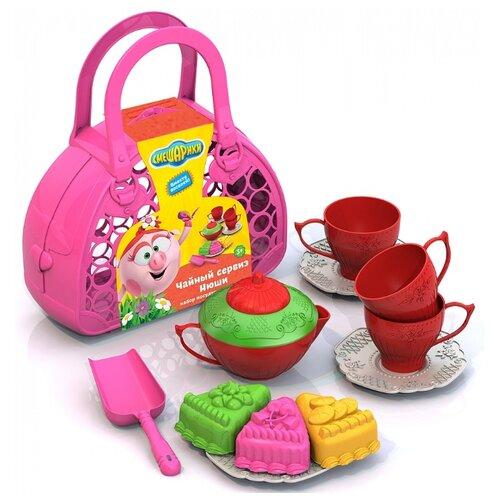 книжка хрюши нюши Набор посуды Нордпласт Чайный сервиз Нюши 651 разноцветный