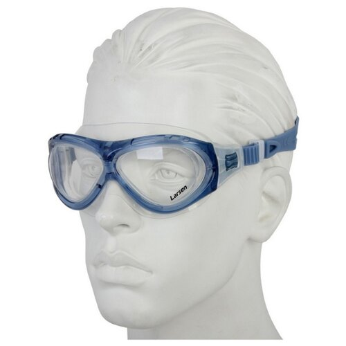 Фото - Очки-маска для плавания Larsen К5 синий очки для плавания larsen dr g101 черный