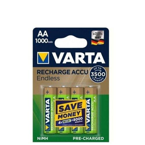 Фото - Аккумулятор Ni-Mh 1000 мА·ч VARTA Recharge Accu Endless AA 1000 2 шт блистер аккумулятор ni mh 2600 ма·ч varta recharge accu power 2600 aa 4 шт блистер