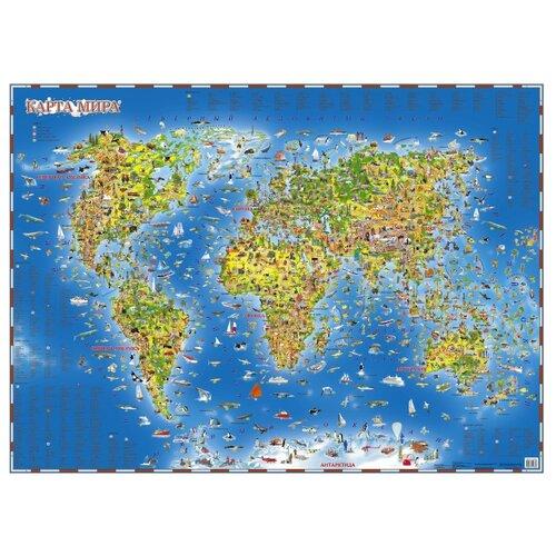 Купить АСТ Карта мира для детей (978-5-17-093687-8), 108 × 78 см, Карты