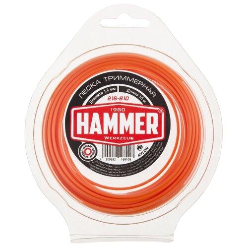 Леска Hammer 216-810 1.6 мм 15 м hammer 216 804 2 4 мм 15 м