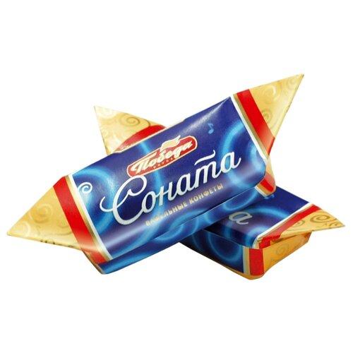Конфеты Победа вкуса Соната вафельные с начинкой ореховый крем в сливочном шоколаде, коробка 1500 г