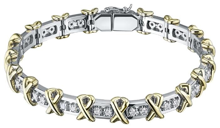 Стоит ли покупать ЭПЛ Якутские Бриллианты Браслет из комбинированного золота с бриллиантами э10Бр101627-17.5-2.361? Отзывы на Яндекс.Маркете