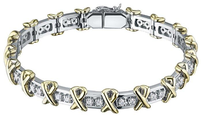 ЭПЛ Якутские Бриллианты Браслет из комбинированного золота с бриллиантами э10Бр101627-17.5-2.361 — цены на Яндекс.Маркете