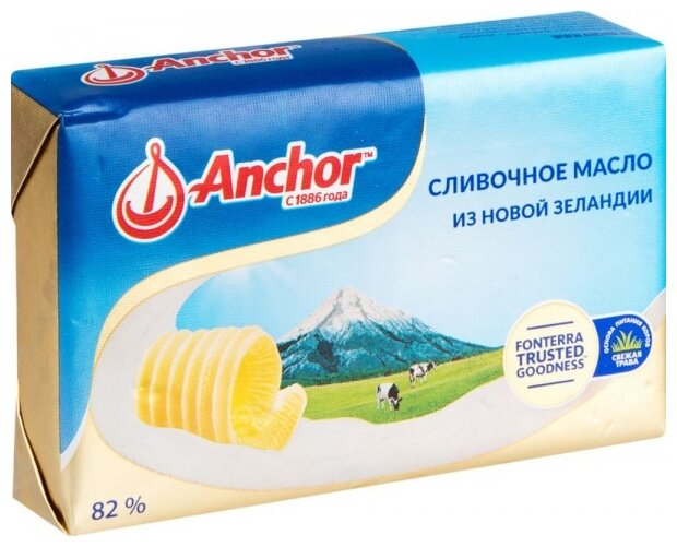 Anchor Масло сливочное 82%, 180 г