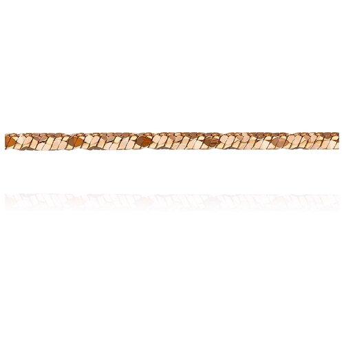 АДАМАС Цепь из золота плетения Панцирь одинарный ЦП150УКА41У-А51, 50 см, 7.27 г