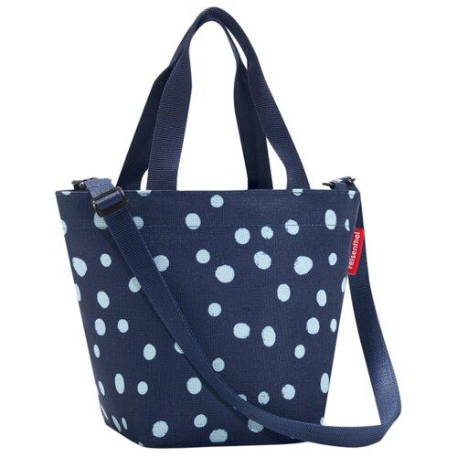 Сумка тоут reisenthel Shopper XS ZR4044 spots navy, текстиль, синий reisenthel сумка складная mini maxi shopper spots navy mr gvuyb