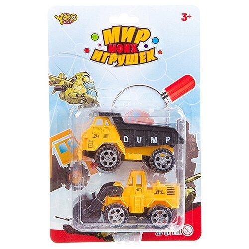 Фото - Набор техники Yako Мир моих игрушек (В93182) желтый набор машин yako мир моих игрушек m7558 1 белый
