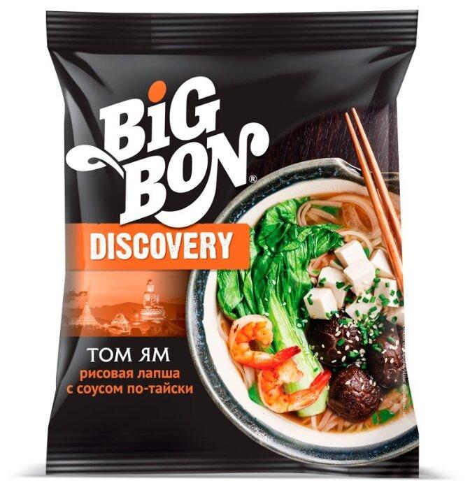 BIGBON Лапша рисовая по-тайски с соусом Том Ям Discovery 75 г
