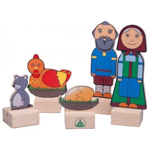Краснокамская игрушка Кукольный театр из дерева Персонажи сказки. Курочка ряба (Н-67) shusha игрушка из дерева shusha сказки
