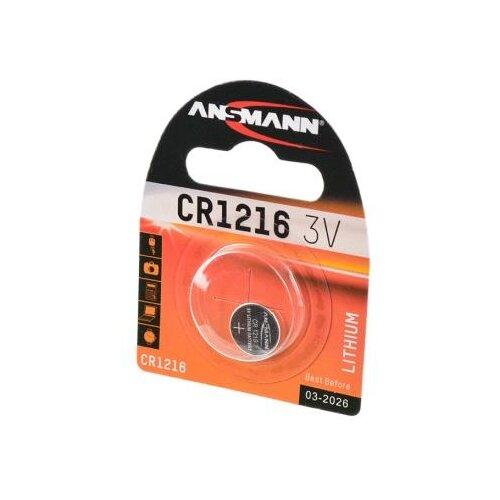 Батарейка ANSMANN CR1216 1 шт блистер батарейка ansmann cr2025 1 шт блистер