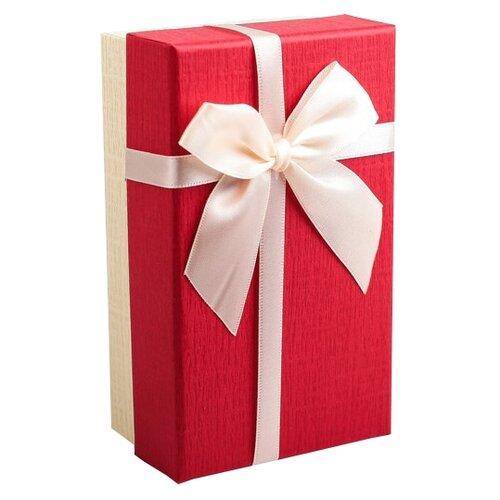 Коробка подарочная Yiwu Zhousima Crafts с бантом 15 х 6 х 9 см красный