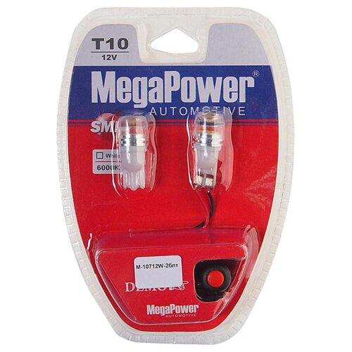 Фото - Лампа автомобильная светодиодная MegaPower 10712W-2блт W5W (T10) 12V 10W 2 шт. 2pcs t10 w5w 80w cree xqb chip led hid