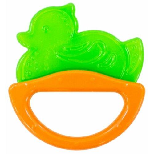 Прорезыватель-погремушка Canpol Babies Rattle with soft bite teether 13/107 зеленая уточка прорезыватель погремушка canpol babies rattle with soft bite teether 13 107 розовая рыбка