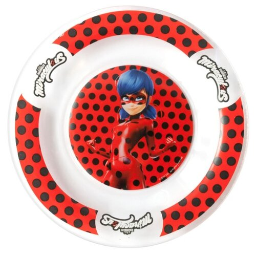 Фото - ND Play Тарелка Леди Баг и Супер Кот, Дизайн 1 19,5 см прозрачный/красный stor тарелка леди баг 23 см красный