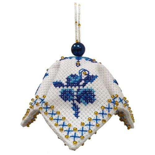 ZENGANA Набор для вышивания бисером и нитками Ручеек 7 х 7 см (М-119)