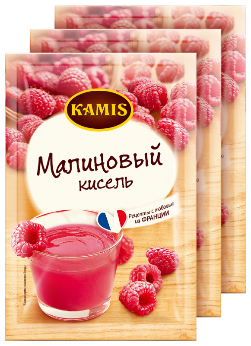Кисель KAMIS Кисель моментального приготовления Малиновый 3 шт. по 30 г