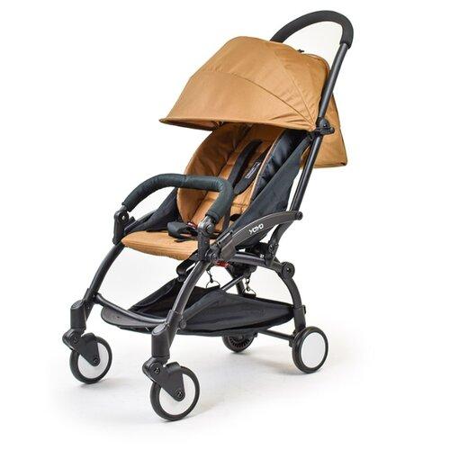 Купить Прогулочная коляска Yoya Baby (175) коричневый/черная рама, цвет шасси: черный, Коляски