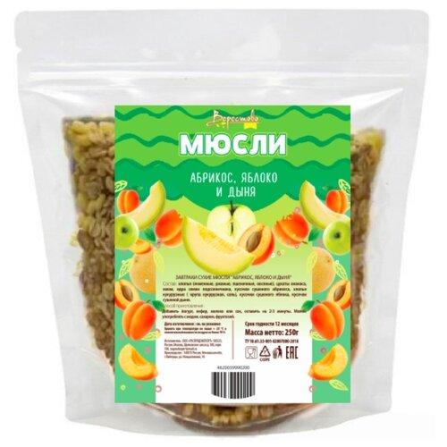 Мюсли Verestovo Абрикос, яблоко и дыня, дой-пак, 250 г гранола verestovo хлопья банан малина воздушные шоколадные шарики дой пак 300 г