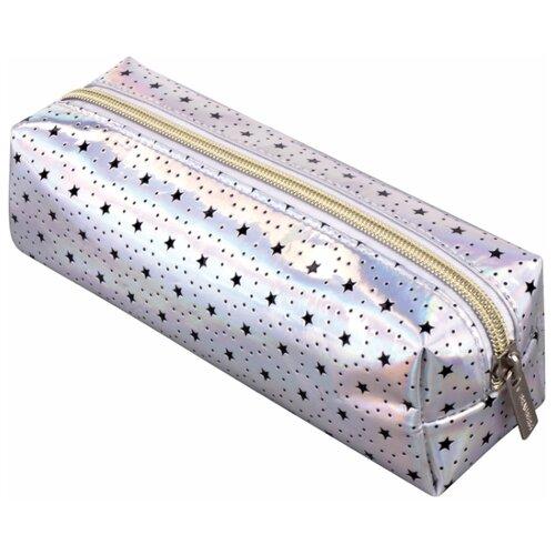 Купить BRAUBERG Пенал-косметичка Galaxy (229000) серебристый, Пеналы