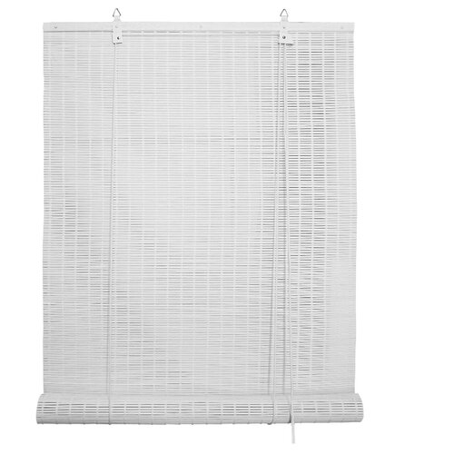 Рулонная штора Эскар бамбуковые (белый), 100х160 см штора рулонная эскар эскар mp002xu0e6bn