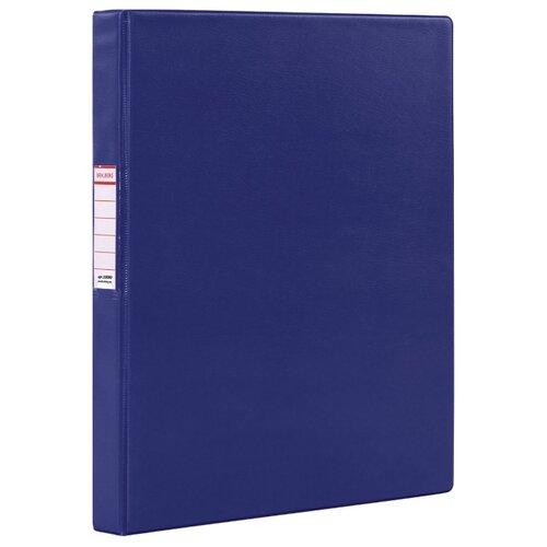 Купить BRAUBERG Папка на 2-х кольцах A4, картон/ПВХ, 35 мм синий, Файлы и папки