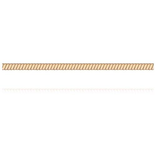 АДАМАС Цепь из золота плетения Панцирь одинарный ЦП140УКА1П-А51, 40 см, 4.98 г