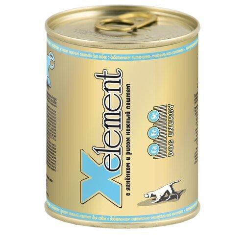 Влажный корм для собак X-Element ягненок с рисом 850г