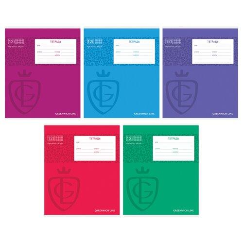 Купить Greenwich Line Упаковка тетрадей Royal book, N5c12-15933, 20 шт./5 дизайнов, клетка, 12 л., Тетради