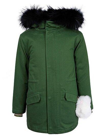 Купить Парка Yves Salomon размер 164, зеленый по низкой цене с доставкой из Яндекс.Маркета