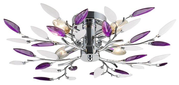 Купить Потолочный светильник Lamplandia 234-4 Jeny purple E14*макс 40Вт по низкой цене с доставкой из Яндекс.Маркета