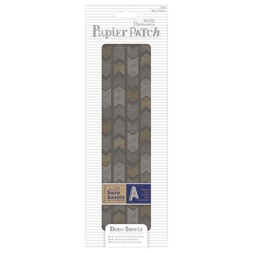 Набор тонкой бумаги для хобби - Шевроны, Papier Patch 26 х 37,5 см 3 листа