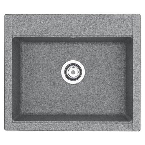 Врезная кухонная мойка 59.4 см АКВАТОН Делия 60 1A715232LD230 серый