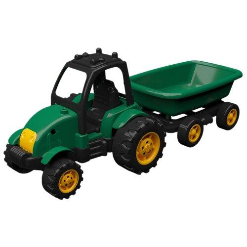 Купить Трактор Terides Т8-054 50 см черный/зеленый/желтый, Машинки и техника