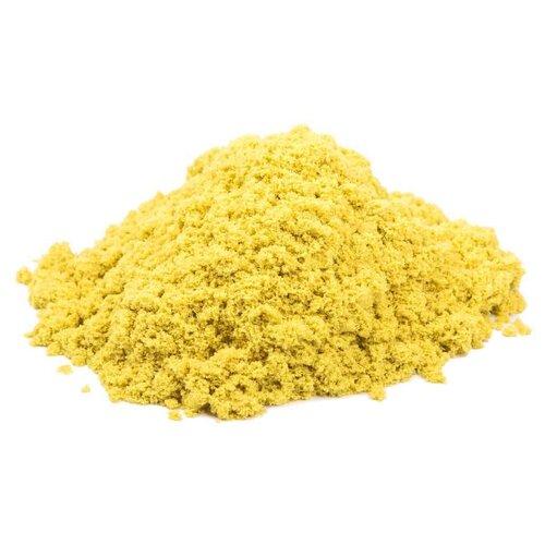 Купить Кинетический песок Космический песок Набор с формочками и складной песочницей, желтый, 1 кг, пластиковый контейнер