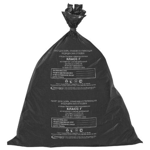 Мешки для мусора Аквикомп Класс Г 30 л (50 шт.) черный 2