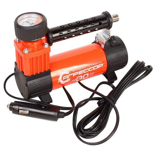 Автомобильный компрессор Агрессор AGR-30 оранжевый