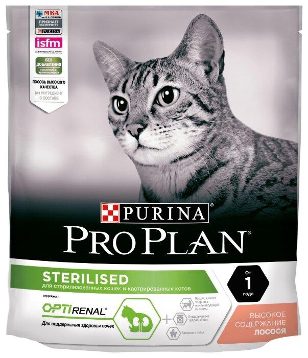 Корм для стерилизованных кошек Purina Pro Plan Sterilised для профилактики МКБ, с лососем 400 г