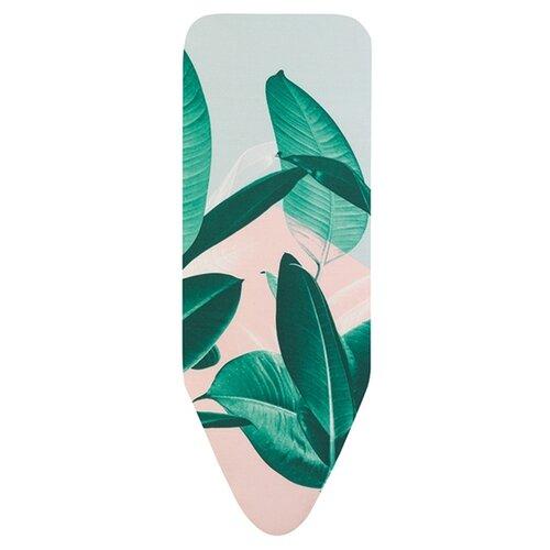 Фото - Чехол для гладильной доски Brabantia PerfectFit C с фетром и поролоном 124х45 см Тропические листья чехол для гладильной доски 124х45 см 322167 brabantia